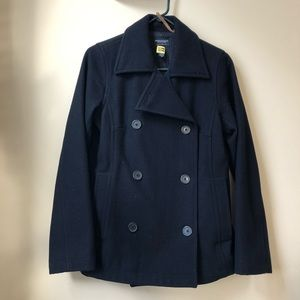 American Eagle wool pea coat in navy
